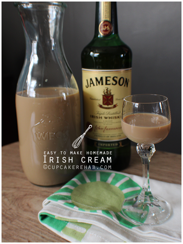 Homemade Irish cream liqueur!