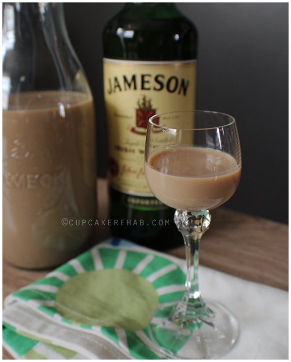 Homemade Irish cream; just a few ingredients & you're on your way.