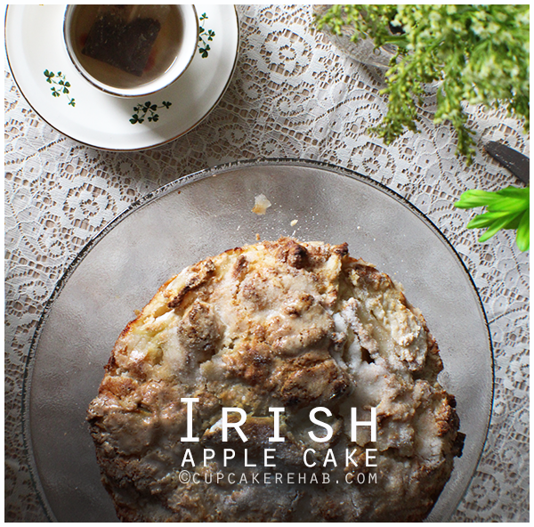 Easy & delicious Irish apple cake loaded with Granny Smith apples.