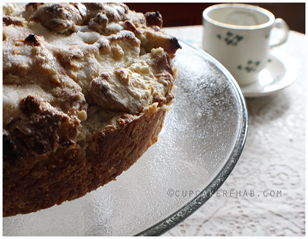 Thick & delicious Irish apple cake.