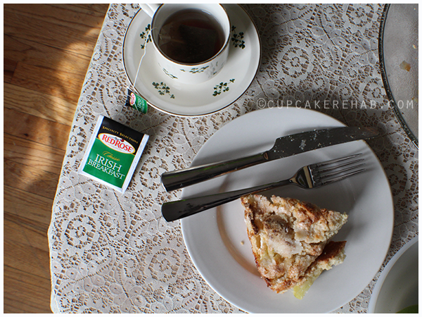 Irish apple cake & tea (click through for recipe)