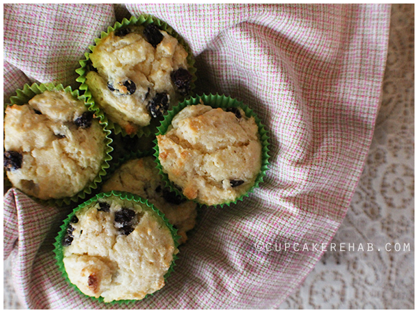 Irish soda muffins with a special kick: Jameson Irish whiskey soaked raisins.