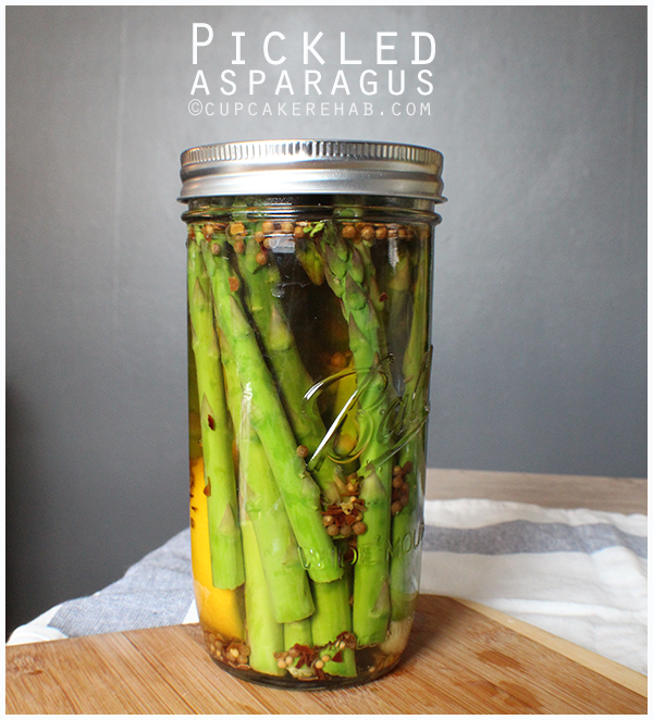 Spring-y pickled asparagus.