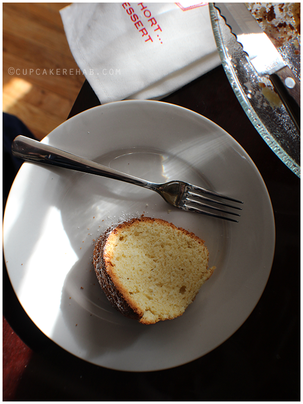 An easy whiskey bundt cake.
