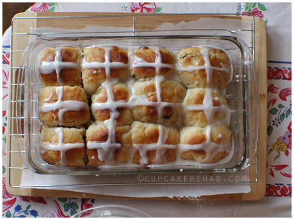 Easy cherry cardamom hot cross buns.