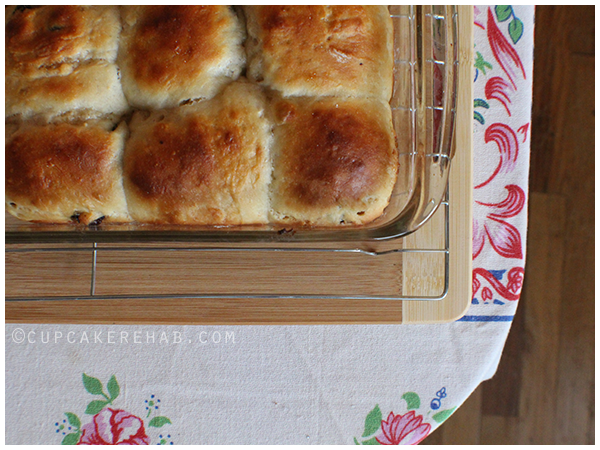 Cherry cardamom hot cross buns!