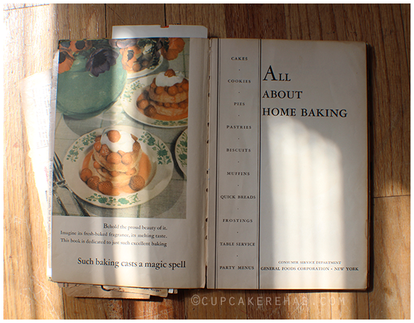 Grandma Dotty's All About Home Baking cookbook.