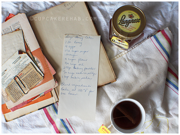 Grandma Dotty's honey cake recipe.