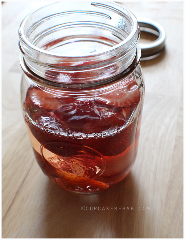How to make strawberry-infused vinegar at home for salad dressings & more!