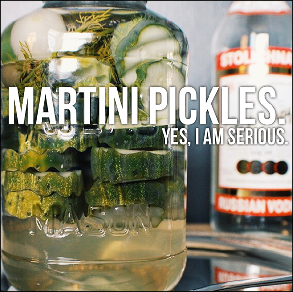 Martini pickles (yes, really).