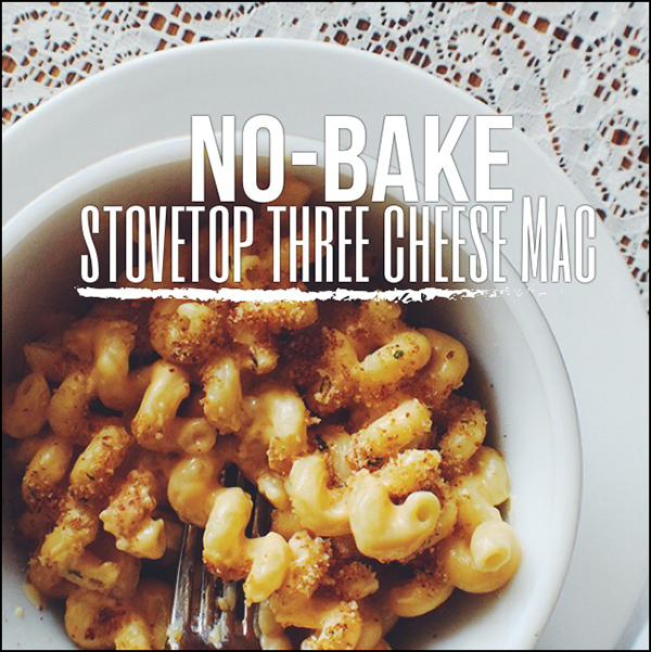 Easy three cheese stovetop mac!