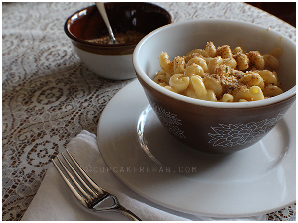 Three cheese stovetop macaroni- perfect for the warm weather.