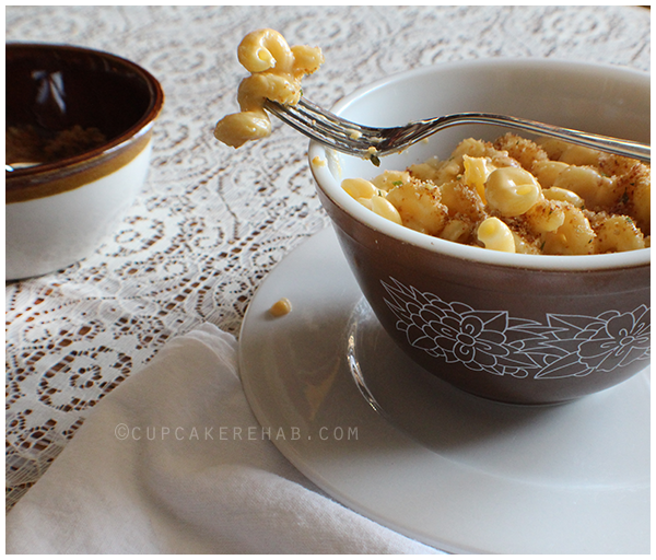 Easy three cheese macaroni- made on the stovetop! No baking!