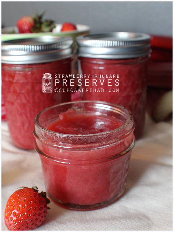 Rhubarb preserves amped up with a little strawberry!