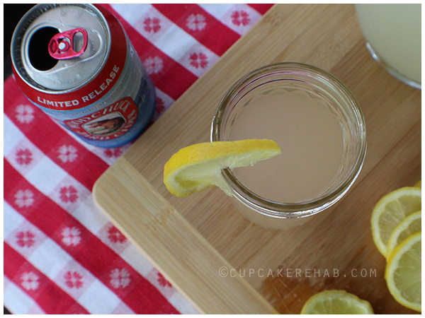 Woodchuck Hard Cider cocktail: a Shandy made with lemonade!