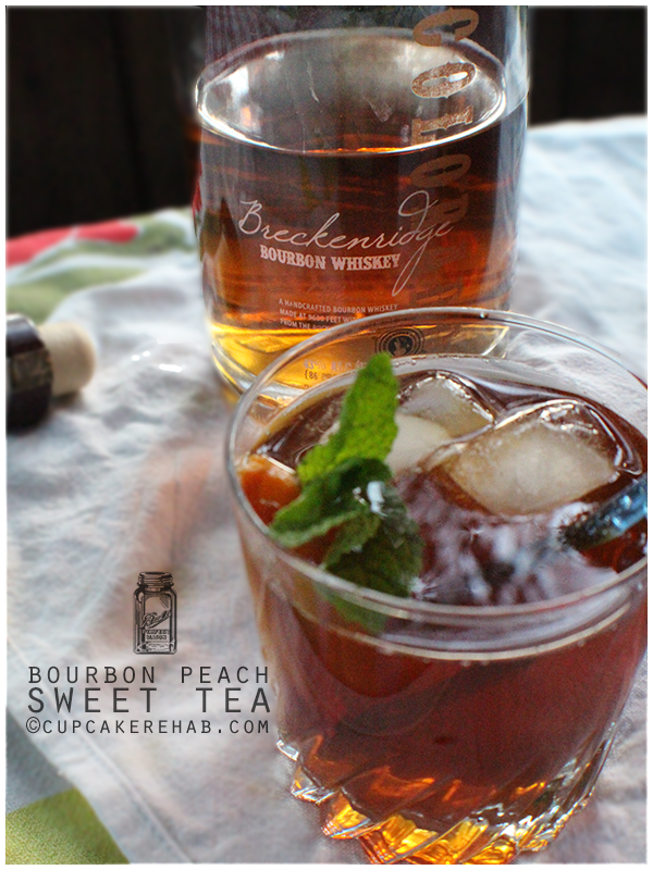 Bourbon peach sweet tea.