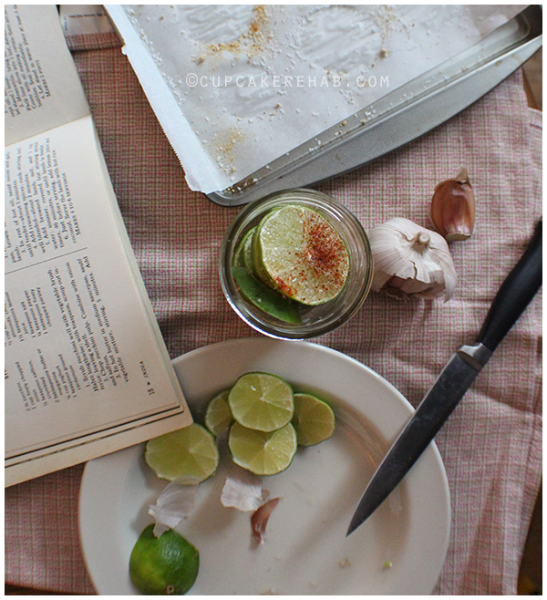 Retro-style Indian lime pickle recipe from a McCall's cookbook supplement from the 60's/70's.