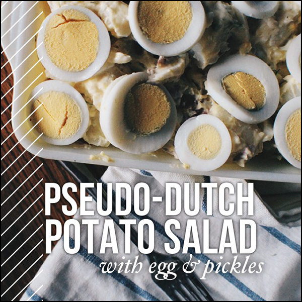 Pseudo-Dutch potato salad recipe.