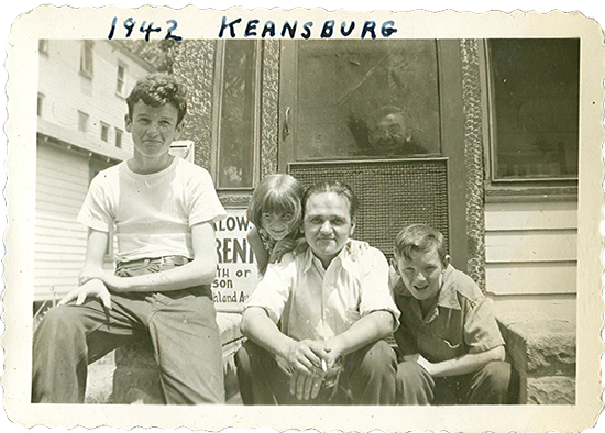 Grandpa Butch with Eugene, Marilyn & Joey at Keansburg, NJ, 1942.