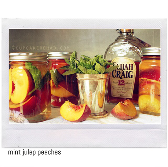 Sweet Preservation: mint julep preserved peaches!