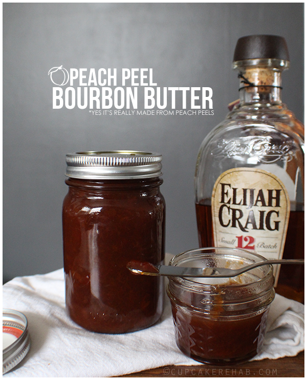 Peach peel butter with bourbon.