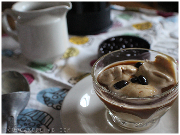 Peanut butter affogato.