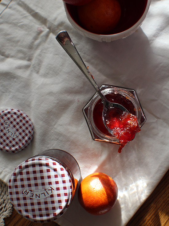 Boozy red wine & blood orange marmalade.