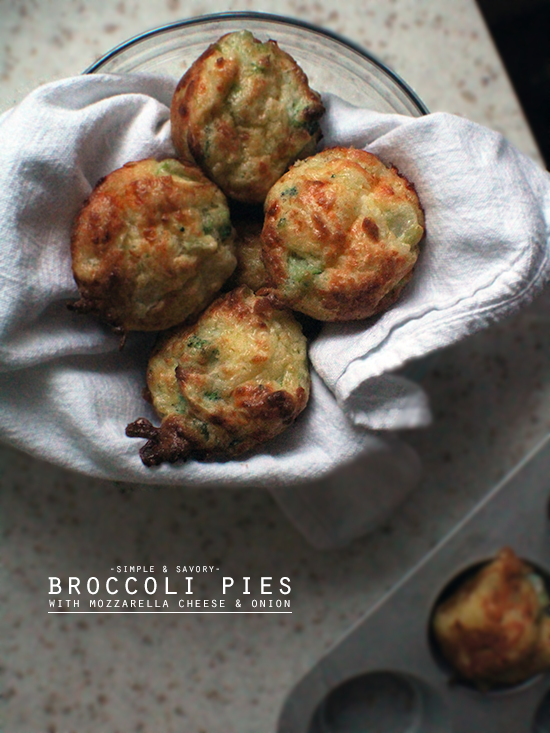 Broccoli pies.