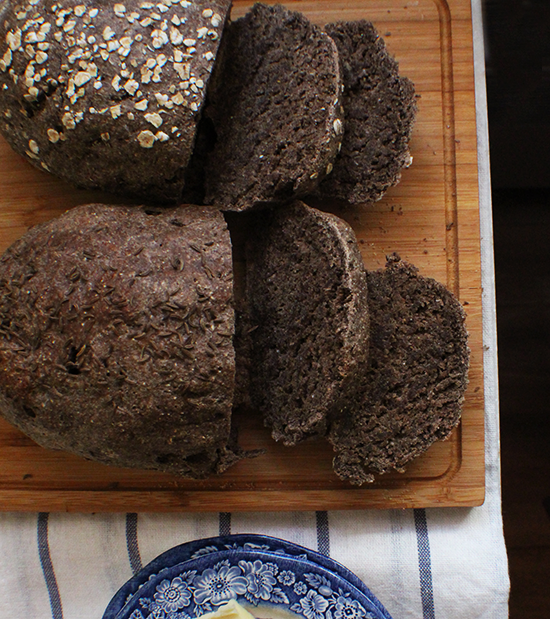 Delicious pumpernickel bread.