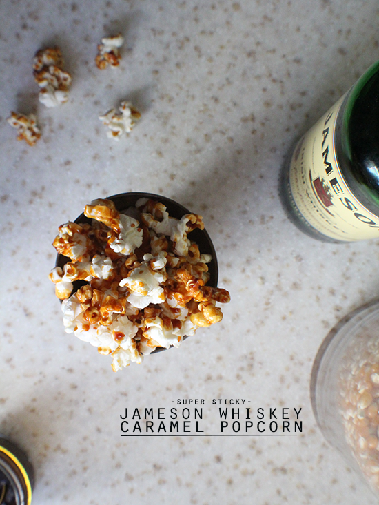 Jameson whiskey caramel popcorn.