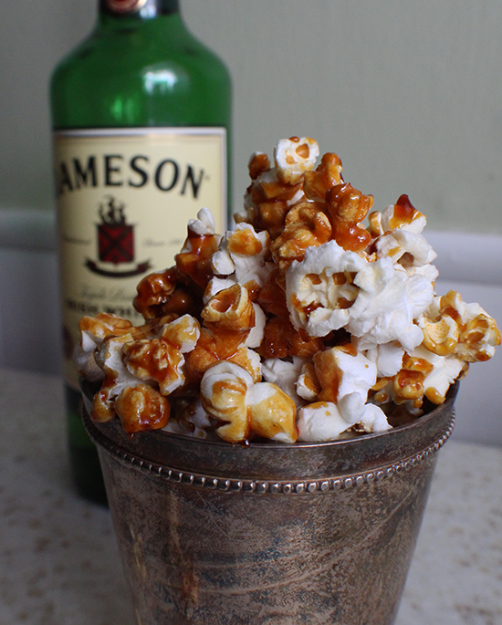 Jameson Irish whiskey caramel popcorn.