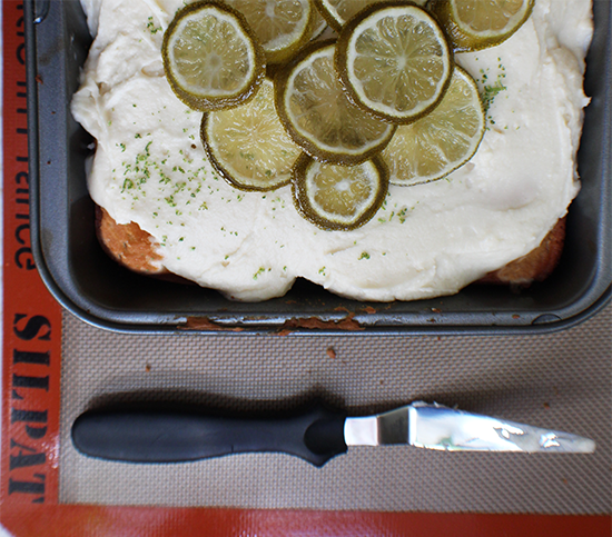 Vanilla cake with a twist of lime.