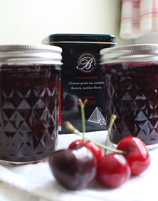 Green tea + jasmine cherry preserves, for our independence.