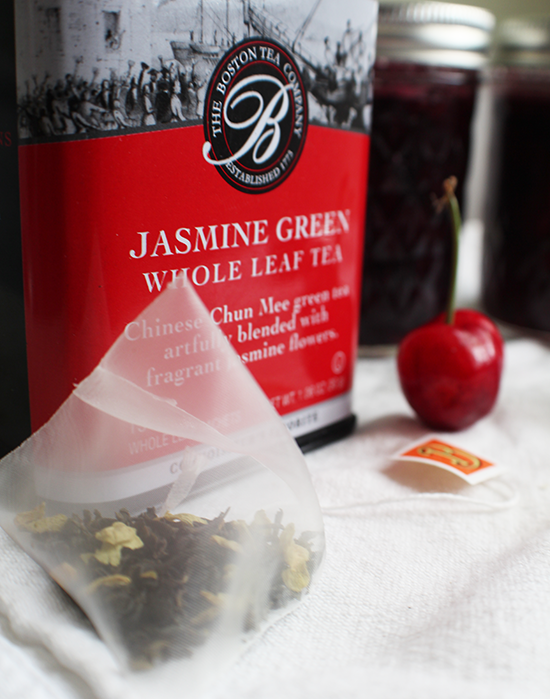 Jasmine Green tea infused cherry preserves.