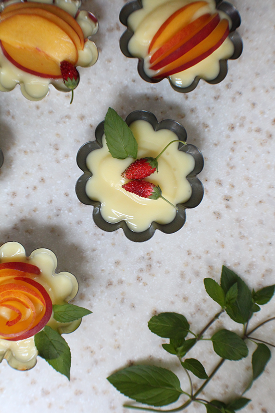 Creme Patisseries with fresh fruit.