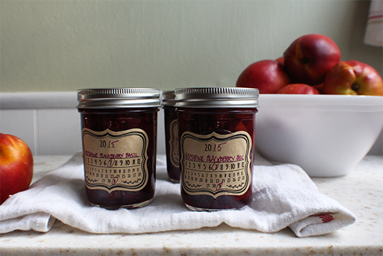 Nectarine blackberry purple basil preserves. #sweetpreservation #canbassador