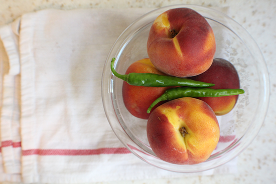 Peaches & peppers.
