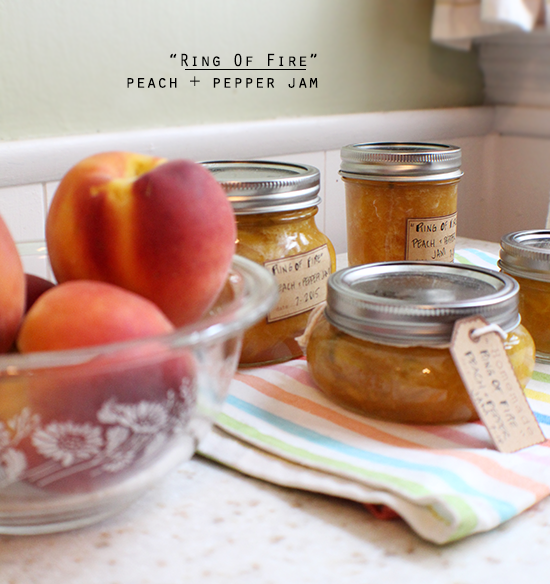 Ring Of Fire peach + pepper jam. #Canbassador