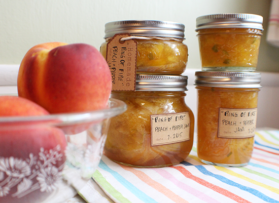 Ring Of Fire peach + pepper jam.