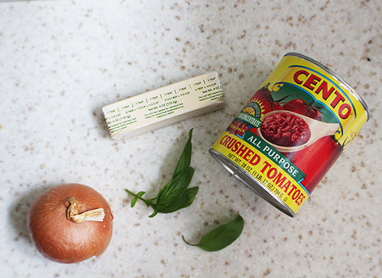 All you need (plus salt and sugar) to make the best, freshest tasting tomato sauce ever.
