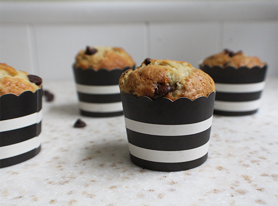 Banana yogurt chocolate chip muffins.