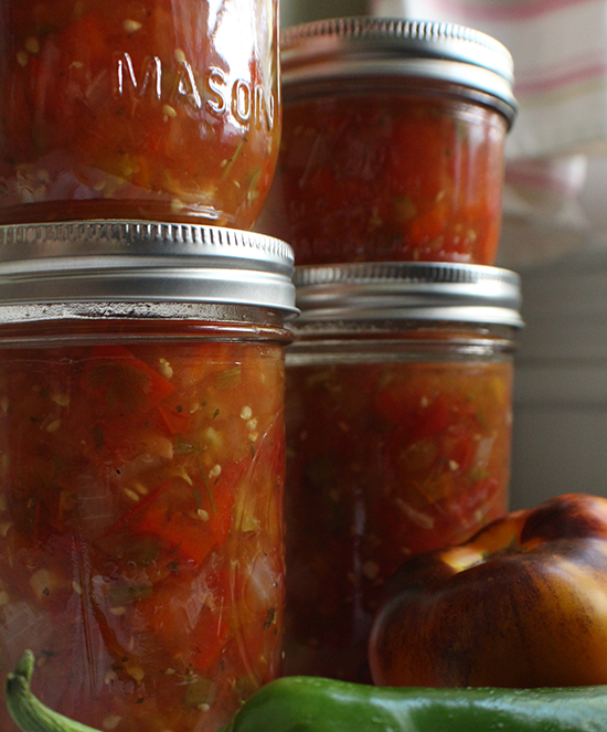 Canned fresh garden salsa- enjoy your garden in the middle of the winter!