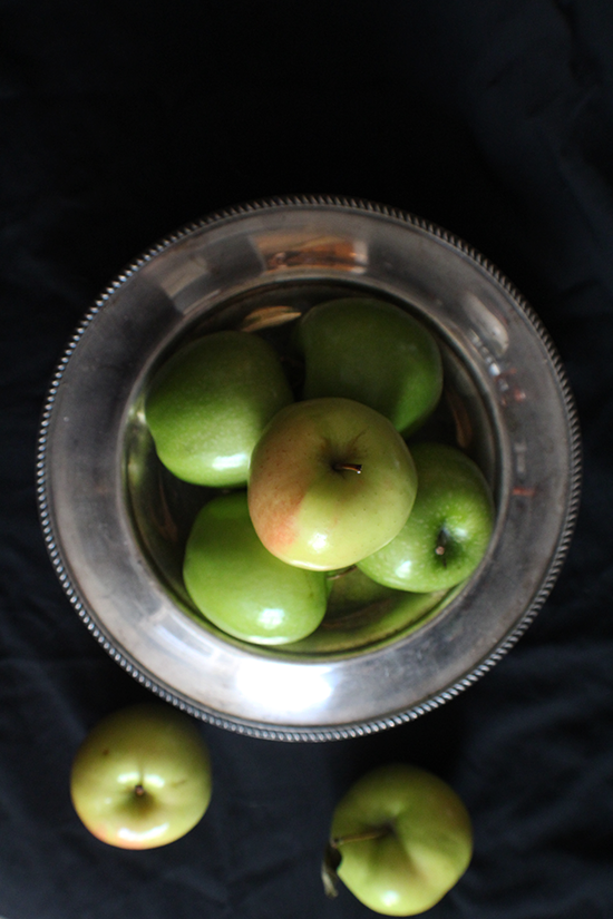 Granny Smith's & Ginger Gold apples- for a maple, brown butter, bourbon and walnut apple pie.