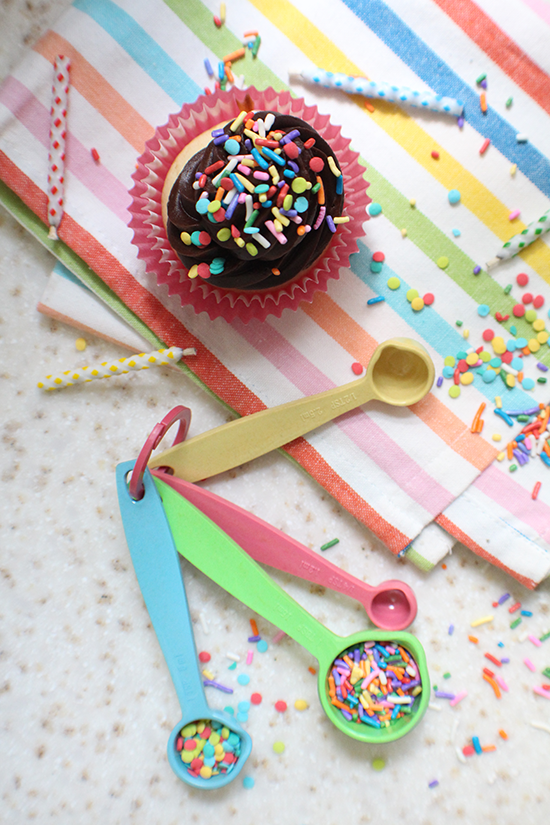 It's my blog's 8th birthday! WOW! I made two cupcakes- yes, just two- to celebrate!