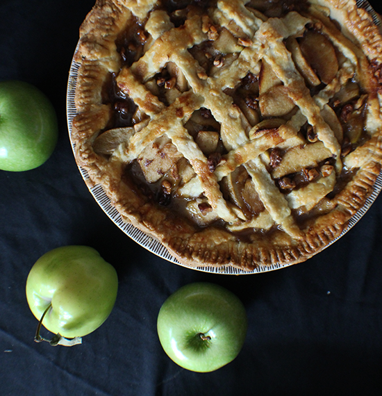 Maple brown butter bourbon apple walnut pie... whew, what a mouthful!