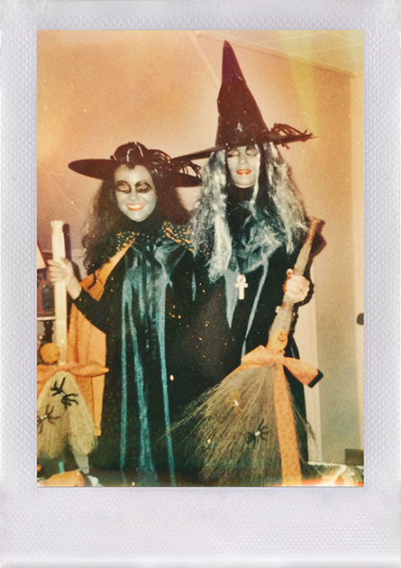 My mom and I in the early 90's- the original Hocus Pocus!