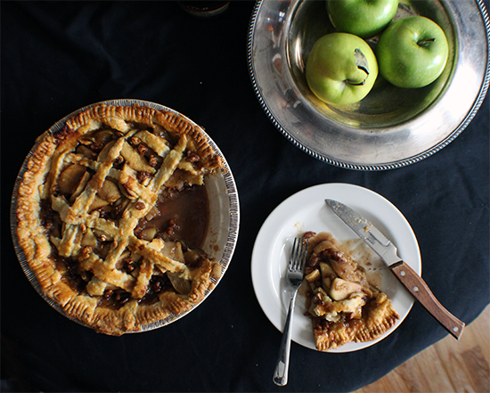 Maple brown butter bourbon apple walnut pie.