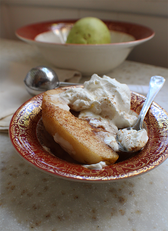 Maple brown sugar roasted pears.