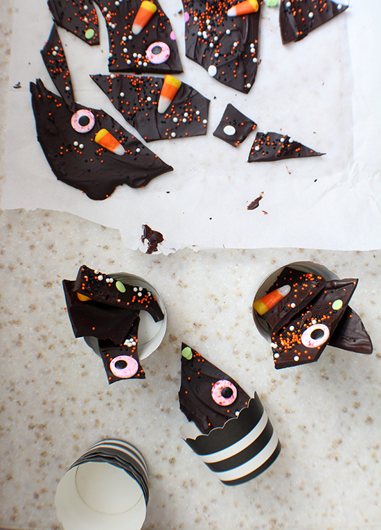 Monster bark for Halloween.