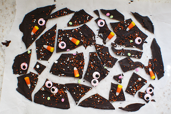 Halloween chocolate Monster bark!